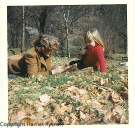 With my mother, who seems to be examining a rotten branch