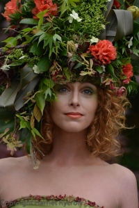 Floral headdress by Okishima and Simmonds at the Hillier stand. Perhaps I should concoct something similar.