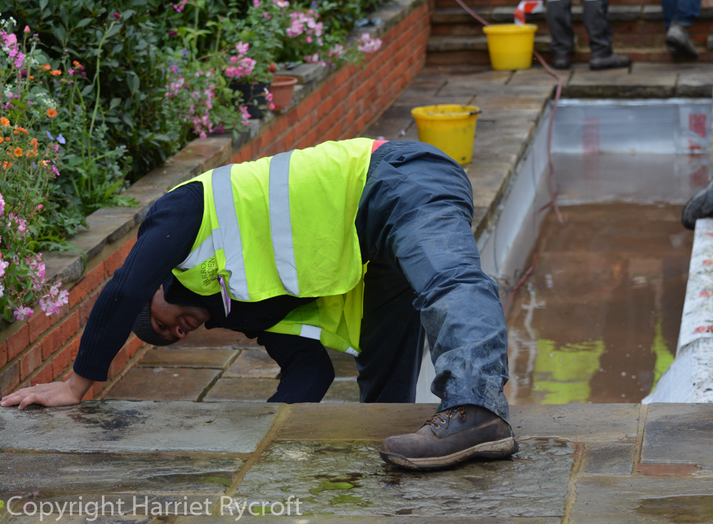 What about the workers? RHS Chelsea Flower ShowBuild-Up