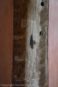 An apotropaic mark in a house in Herefordshire.