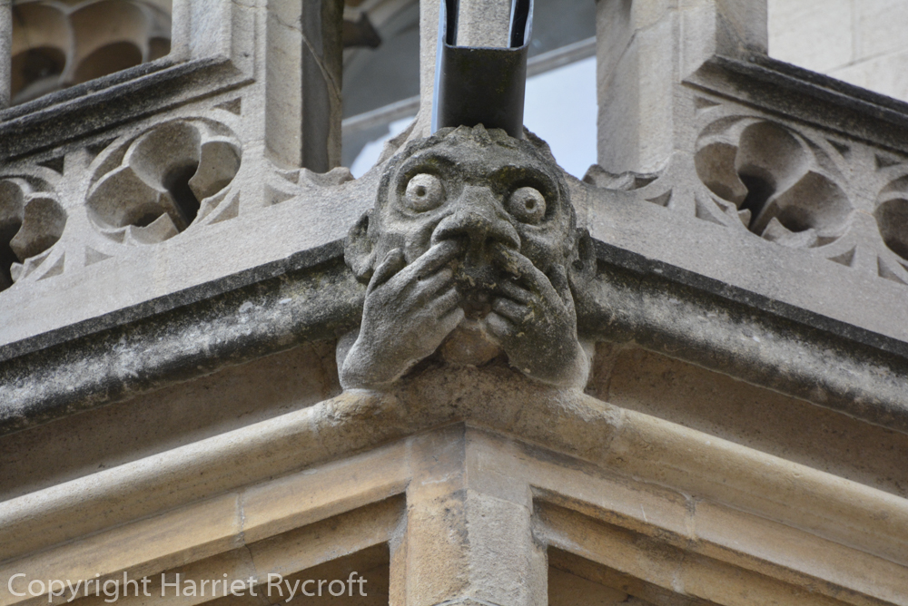Boo! Gargoyle on Exeter College, Oxford