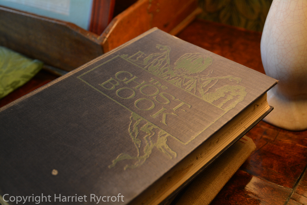 A good read if you dare - this book lies in a haunted bedroom at Owlpen Manor, Gloucestershire