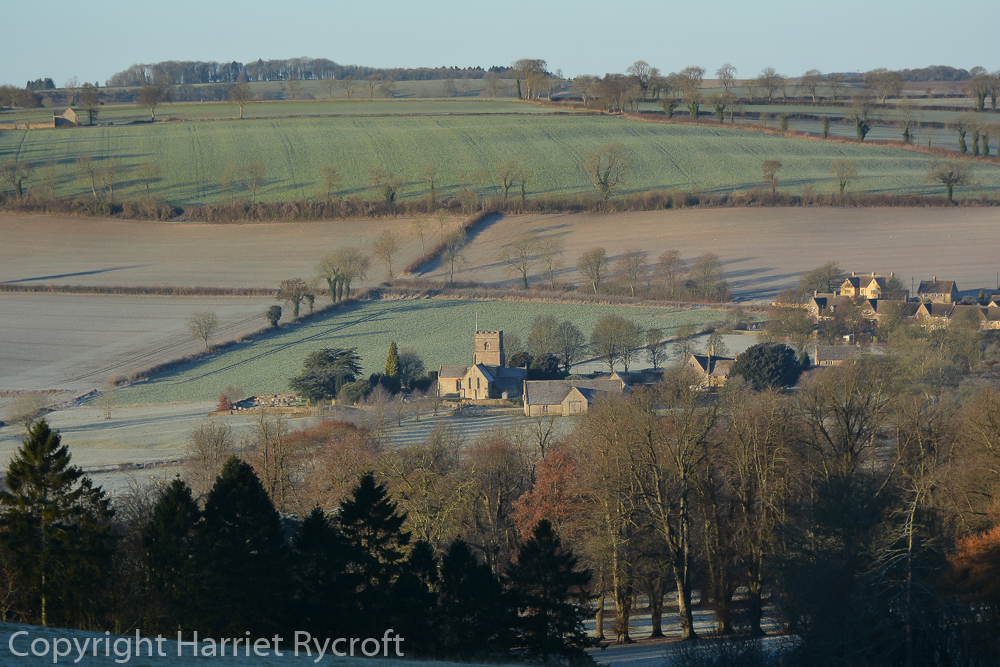 Looking down on St Michael and All Angels, Guiting Power.
