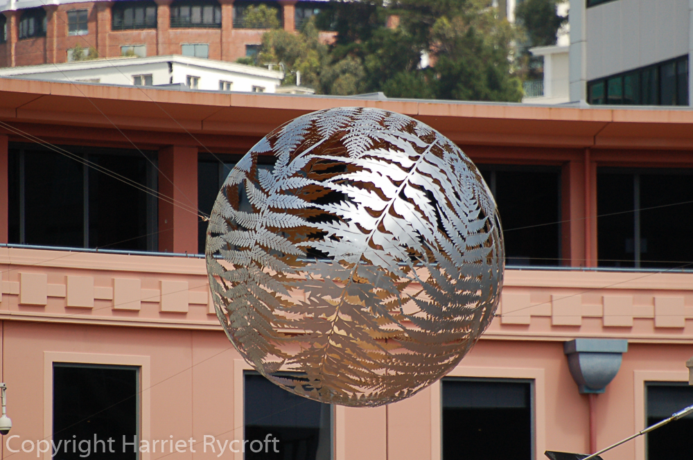 'Ferns' by Neil Dawson, just one of Wellington's many public sculptures and art installations